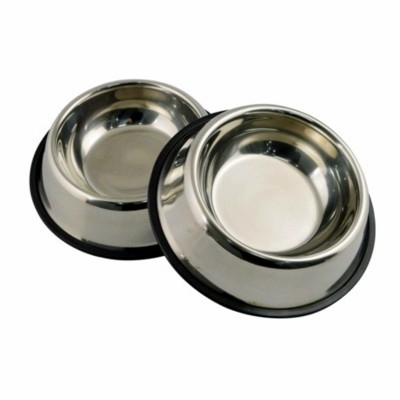 Non Tip Stainless Steel Dog Bowls
