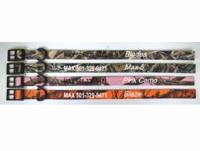 Personalized Embroidered Nylon Camo Dog Collars