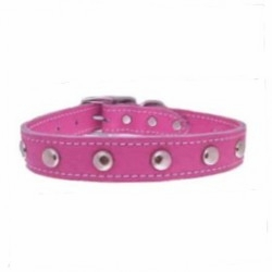 Pink Leather Collars with Studs