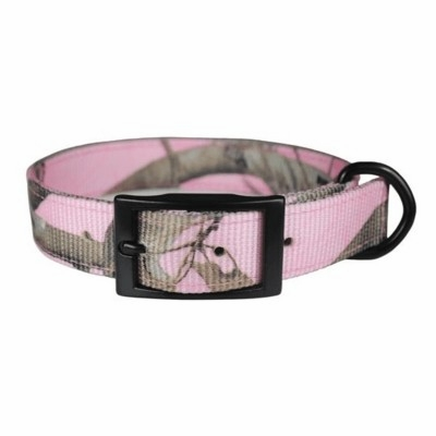 Pink Nylon Camo Dog Collar