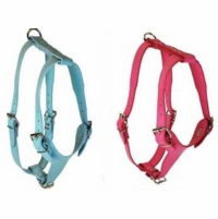 Pink or Baby Blue Leather Harness