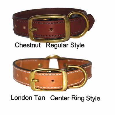 Premium Leather 3/4 wide Collars