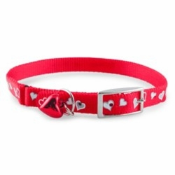 Reflective Hearts Cat Collars