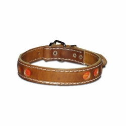 Reflective Leather Dog Collars