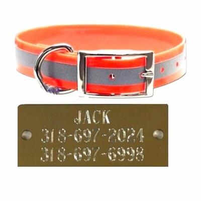 Reflective Sunglo Collar with Aluminum Plate