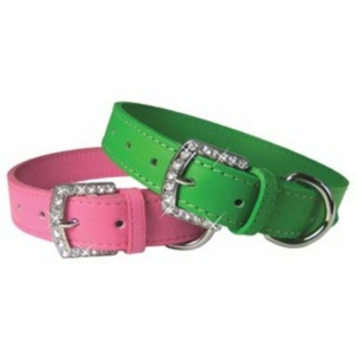 Rhinestone Buckle Dog Collars