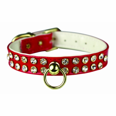Rhinestone Vinyl or Velvet  Collars 1/2 in wide