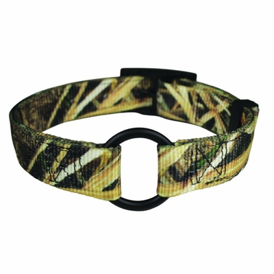 Ring-In-Center Mossy Oak Blades Dog Collar