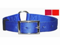 Ring-in-Center Nylon Dog Collar 3/4 Inch Wide