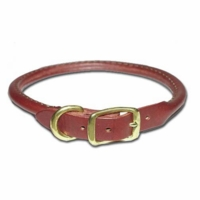 Round Leather Dog Collars