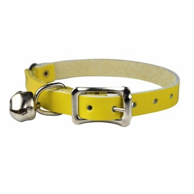 Safety Stretch Leather Cat Collars