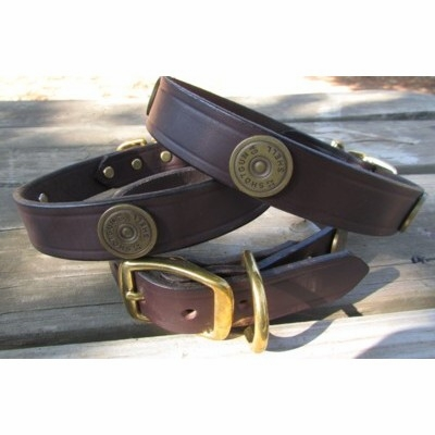 Shot Gun Shell Leather Collar