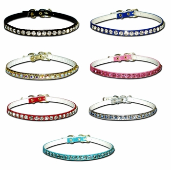 Tiny Dog Collar with Rhinestones