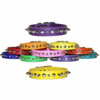 Spike Leather Collars sizes 10, 12 and 14