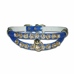 Split Design Collar with Rhinestones