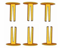 Split  Rivets for Dog Collar name plates (10-pack)