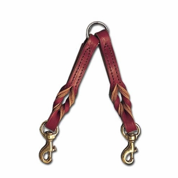 Twist Leather 2 Dog Coupler