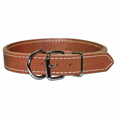 Two-Ply (Front Dee) Leather Dog Collar 1-1/4 Inches Wide