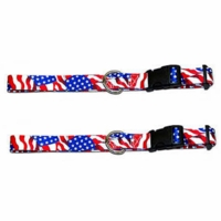 USA Printed Webbing Kwik Klip Dog Collars