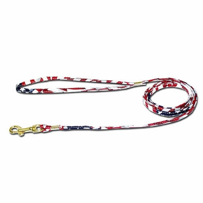 USA Stars And Stripes Fabric Leads