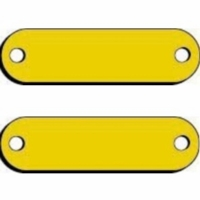 Blank Brass Name Plates for Dog Collars