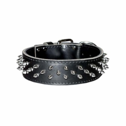 Wide Leather Dog Collar With Spikes
