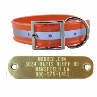 Wide Reflective Collar with Name Plate