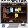 1929-1972 Chevy Parts OEM Manuals - CD