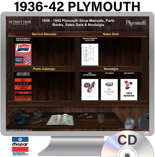 1936-1942 Plymouth OEM Manuals - CD