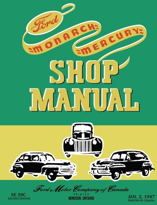Ford Overhaul and Repair Shop Manual 1942 1946 1947 1948 Car and Truck Service