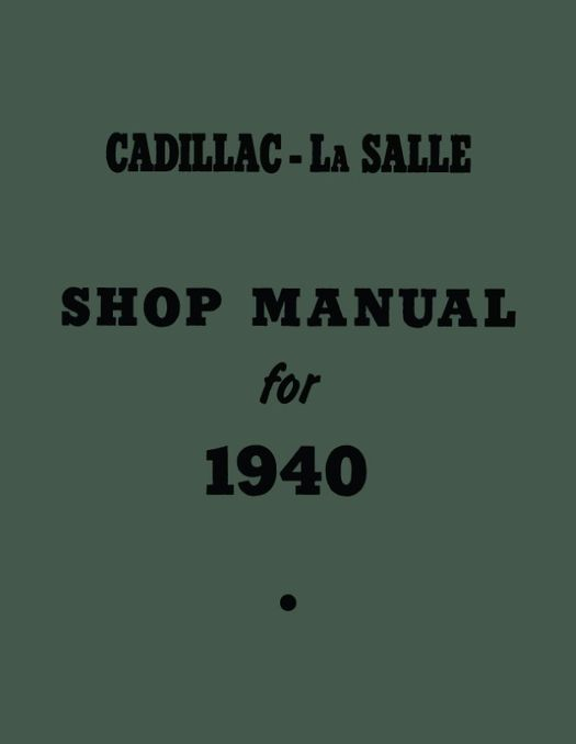1940 Cadillac and La Salle Shop Manual Supplement