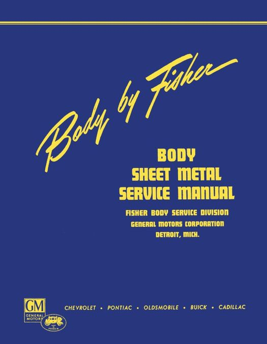 1941 - 1942 Fisher Body Sheet Metal Service Manual