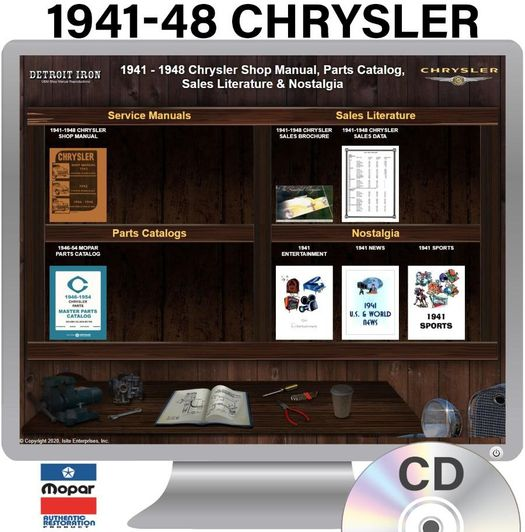 1941-1948 Chrysler OEM Manuals - CD