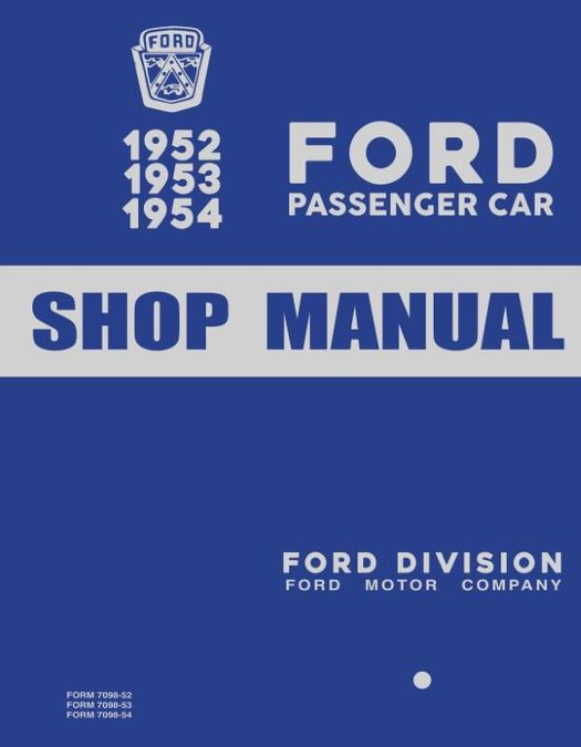 1952-1954 Ford Passenger Car Shop Manual