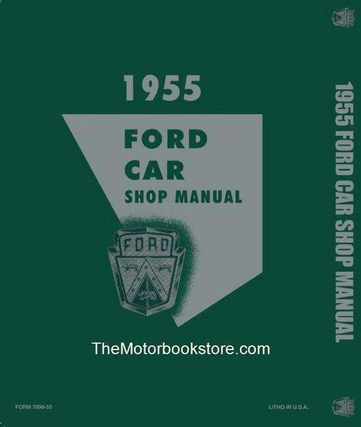 1955 Ford Service Specifications Manual Car Thunderbird Truck Fairlane Mainline