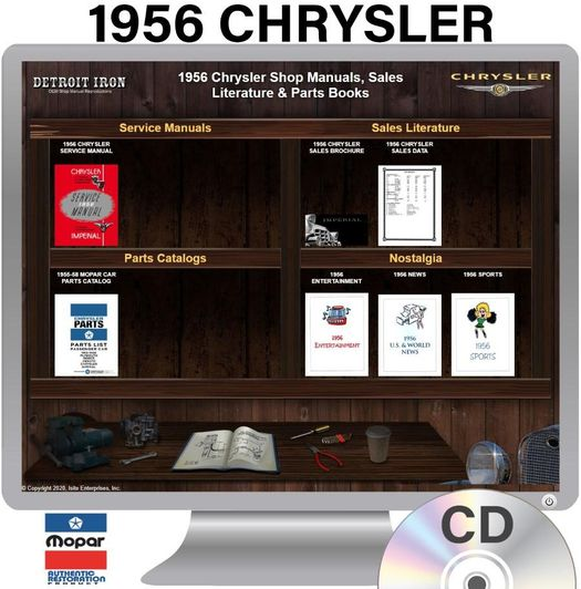 1956 Chrysler OEM Manuals - CD