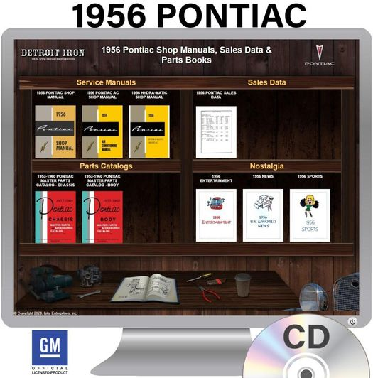1956 Pontiac OEM Manuals - CD