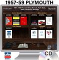 1957-1959 Plymouth OEM Manuals - CD