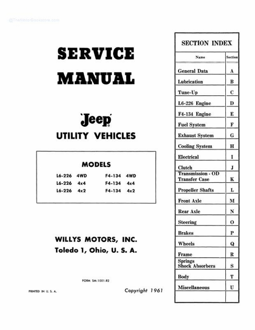 1957 - 1965 Jeep Service Manual - Utility Vehicles