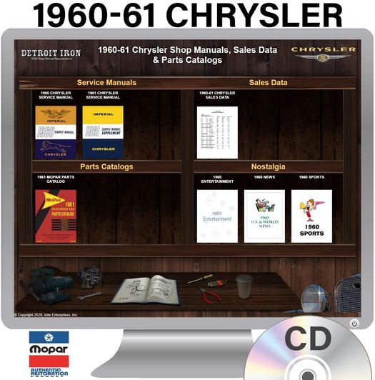1960-1961 Chrysler OEM Manuals - CD