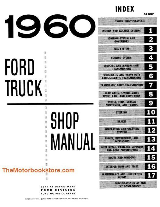 1960 Ford Truck Shop Manual