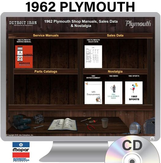 1962 Plymouth OEM Manuals - CD