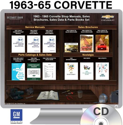 1963-1965 Corvette OEM Manuals - CD