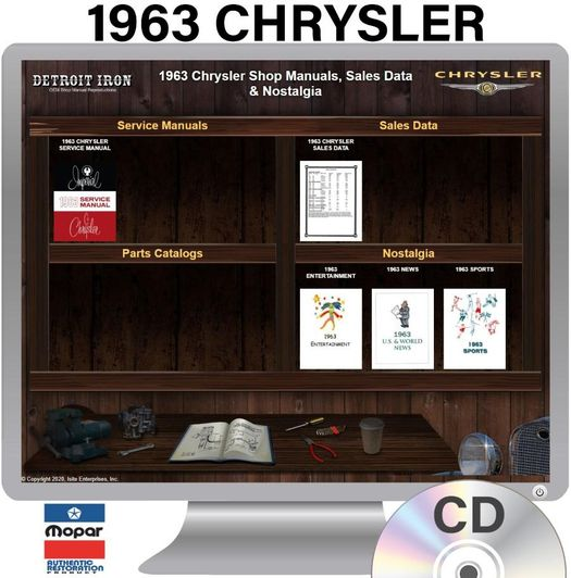 1963 Chrysler OEM Manuals - CD