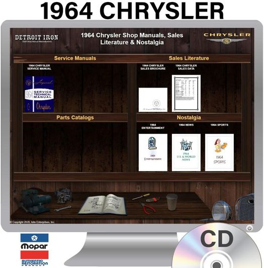 1964 Chrysler OEM Manuals - CD