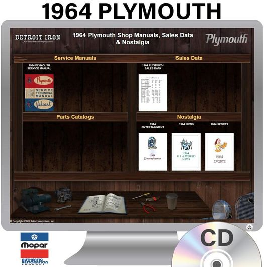 1964 Plymouth OEM Manuals - CD