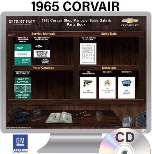 1965 Corvair OEM Manuals - CD
