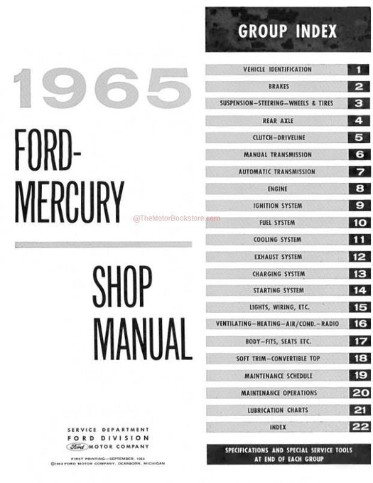 1965 Ford and Mercury Shop Manual