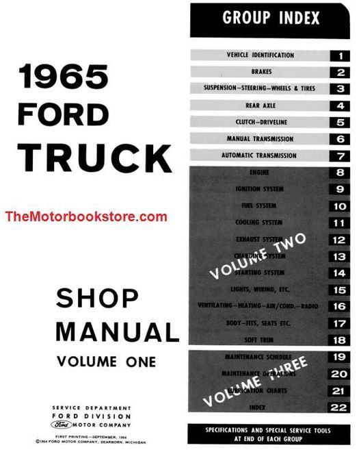 Parts Accessories Automotive 1965 Ford Truck Shop Repair Manual On Cd