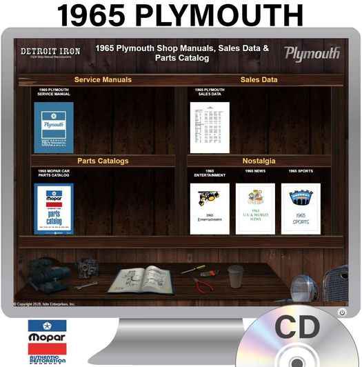 1965 Plymouth OEM Manuals - CD
